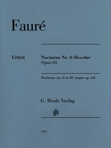Faure Nocturne No 63 Sheet Music Piano Book 051481081 6 in D-Flat Major Op