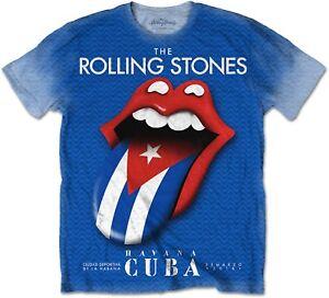 THE-ROLLING-STONES-Havana-Cuba-2016-Blue-T-SHIRT-OFFICIAL-MERCHANDISE