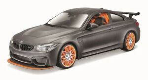 Maisto-1-24-BMW-M4-GTS-Gray-Assembly-DIY-Car-Diecast-MODEL-KITS-NEW-IN-BOX