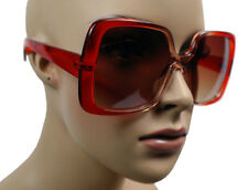NEW WOMEN'S SQUARE FASHION DESIGNER OVERSIZE JACKIE O BIG SUNGLASSES RED 5002B