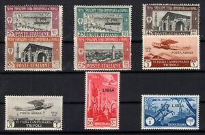P134813-ITALIAN-LYBIA-LOT-1927-1937-MINT-MNH-CV-255