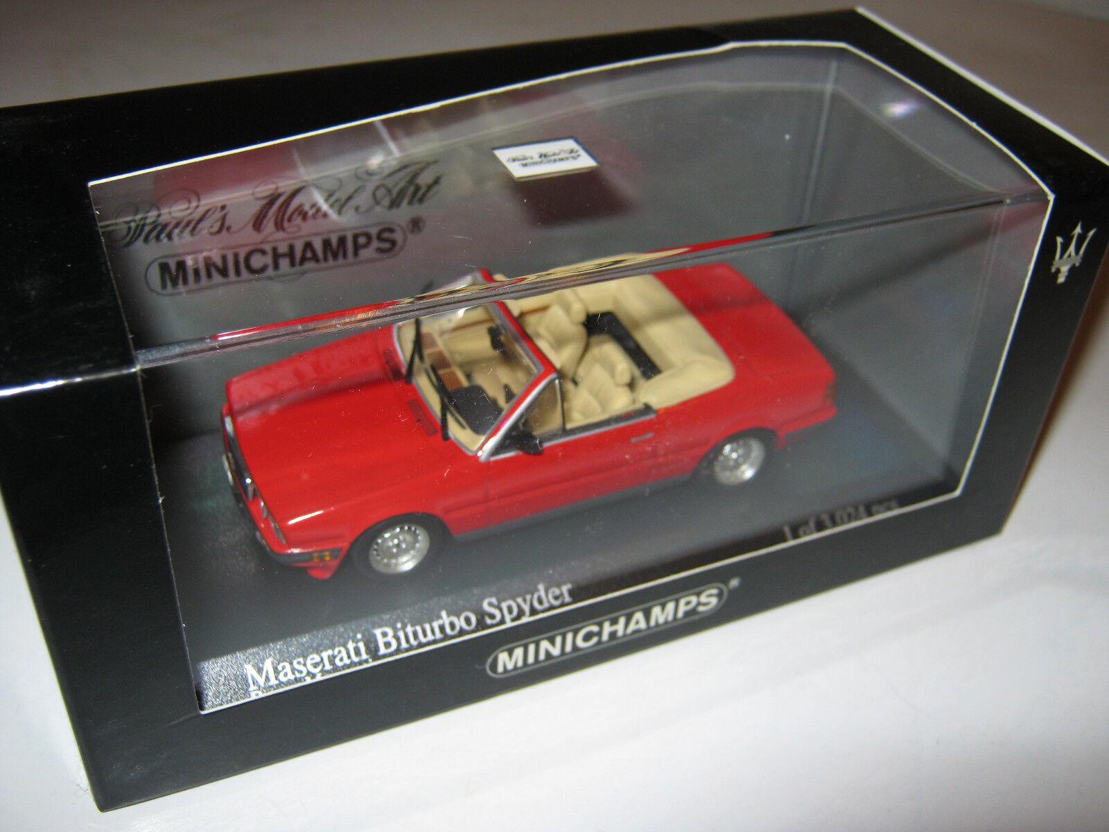 1 43 Maserati Biturbo 1986 Cabrio röd MINISTAMPS 400123530 1 av 3024 OVP NEU