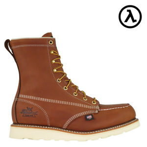 7ba26c3cb97 Details about THOROGOOD AMERICAN HERITAGE MOC TOE ST EH WEDGE WORK BOOTS  804-4208 - ALL SIZES