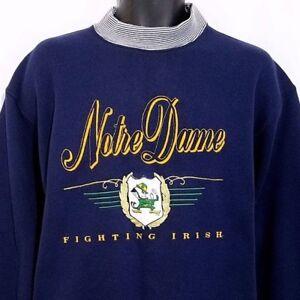 5f0f1124d0435 Image is loading Notre-Dame-Fighting-Irish-Sweatshirt-Vintage-80s-90s-