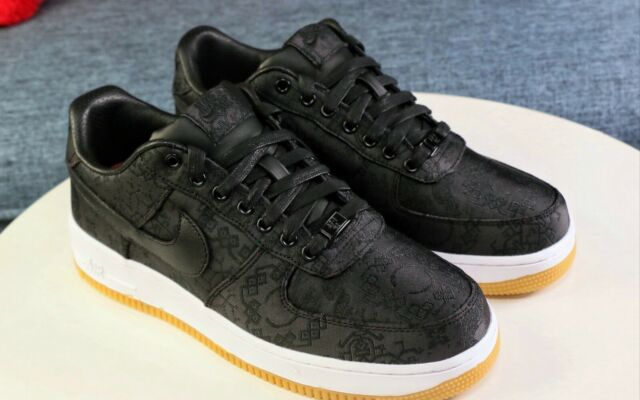 Fragment x CLOT x Nike Air Force 1 Low Black Silk (size 9.5) 100% authentic