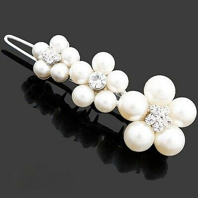 Lovely plum flower zircon hair clip hairclip