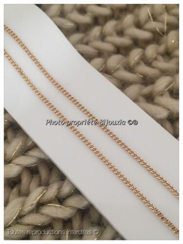Chaîne Maille gourmette 50 cm Plaqué Or 18 carats 750//1000  Bijoux Femme