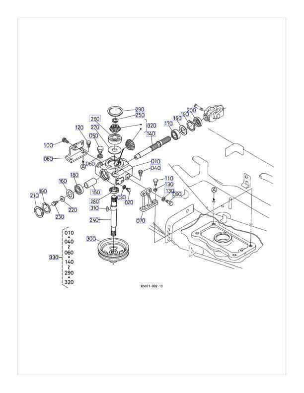 new oem kubota gearbox k5671 33100 fits rc72 f30 ebay Pond Guru close
