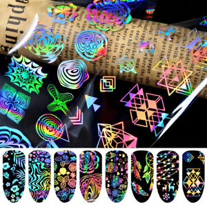 Details about 8 Sheets Set Holographic Laser Nail Art Foils Wraps Transfer  Stickers Decals UK