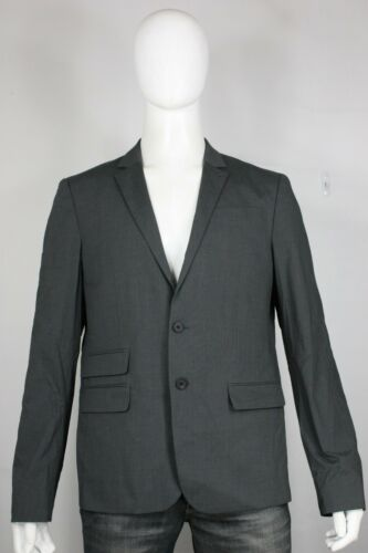 All-Saints blazer 42 new Italian cloth gray 2 button jacket  free shipping