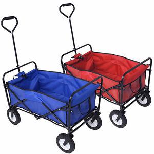 chariot de jardin main remorque pliable transport main charge 70kg 2choix ebay. Black Bedroom Furniture Sets. Home Design Ideas