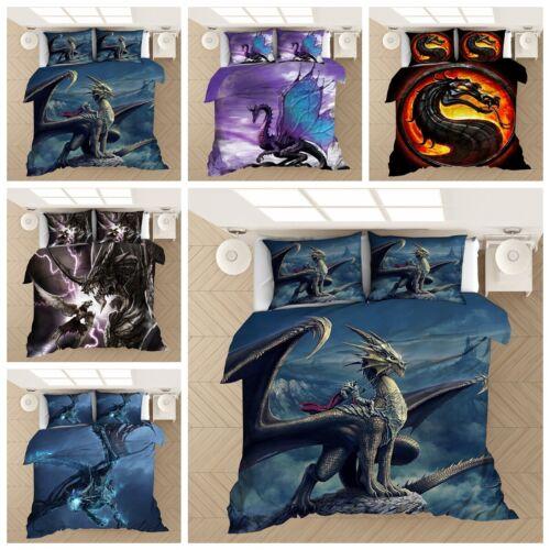 3D Alien Animal Flying Dragon Duvet Cover Bedding Set Comforter Cover Pillowcase