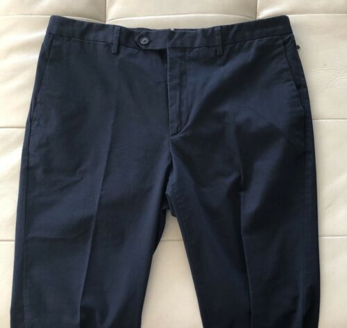 Size 34R//44R Hackett London Sanderson Classic Fit Chino Trousers Navy