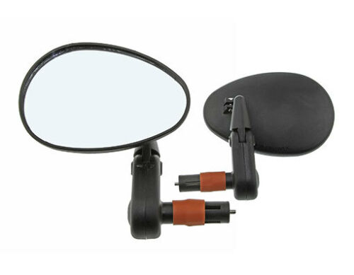 NEW BICYCLE 3D MIRROR BAREND MOUNT FLASHING LIGHT CRUISER MTB BIKES