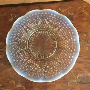 Vintage-Anchor-Hocking-Moonstone-Glass-Round-Sandwich-Plate