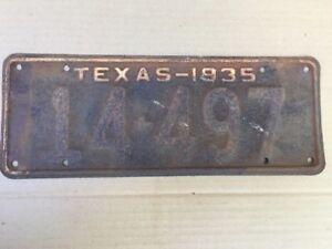 1935-TEXAS-LICENSE-PLATE-PLATES-ORIGINAL-CHEVY-FORD-GMC-HOT-RAT-STREET-ROD-35