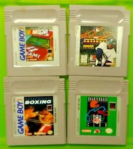 Boxing-Nascar-Racing-Baseball-NFL-Club-Nintendo-Game-Boy-Color-GBC-GB-SP-Advance