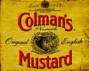 Antiquitäten & Kunst Colmans English Mustard VINTAGE ADVERT Art Print Poster A1 A2 A3 A4 A5