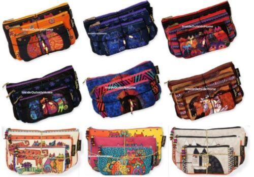 Laurel Burch Dog Canine Clan Makeup Bag Set of 3 Organizer Craft Meds New