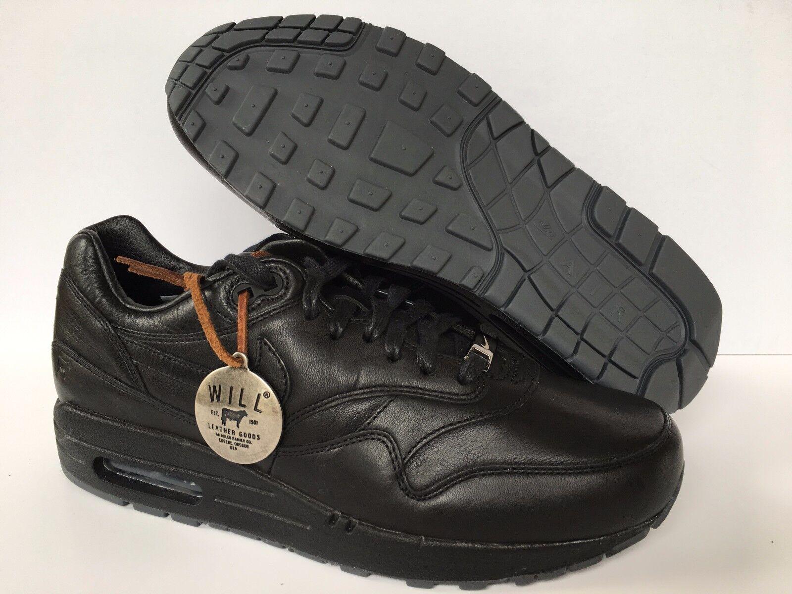 NIKE AIR MAX 1 ID WILL PREMIUM LEATHER schwarz SZ 8