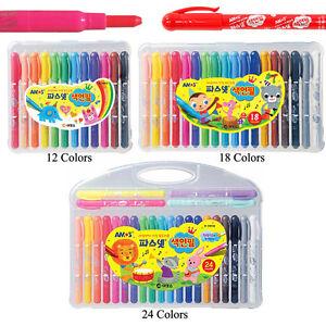 Amos Non-Toxic Premium Silky Crayon Pasnet Color Twist Pencils - 12/18/24 Pick