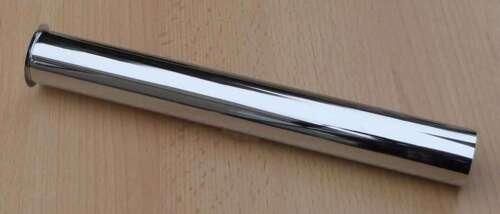 250 Ablaufrohr // Tauchrohr mit Bördelrand 32 x 200 500mm //MS-chrom 300