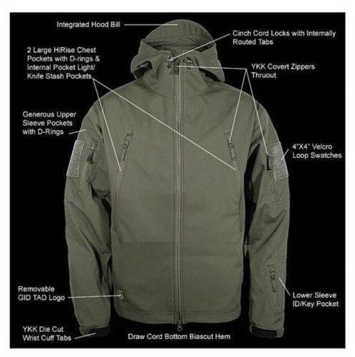Tactical Sharkskin Soft Shell Jacket Hoodie Men Military Thermal Coat Waterproof