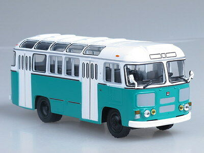 PAZ-672M White-Green Soviet (Russian) City Bus 1:43 die-cast scale model