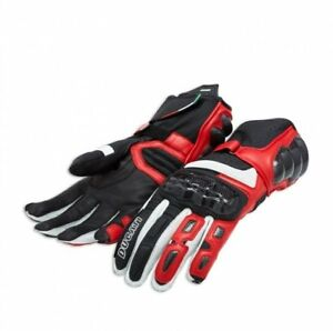 DUCATI-PERFORMANCE-C2-Gants-en-cuir-rouge-Noir-Neuf