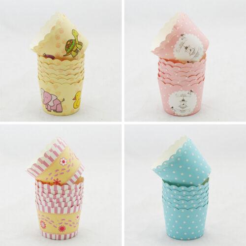 50X Einweg Kuchen Backpapier Pappbecher Cupcake Muffin Cases Fit Home ZP