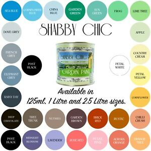 Fabulous Details About Shabby Chic Garden Chalk Paint For Gardens Exterior And Outside Spaces Beutiful Home Inspiration Truamahrainfo