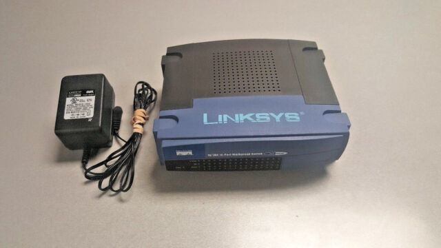 Linksys EtherFast 10/100 16-port Workgroup Switch EZXS16W - 16 ports with PS