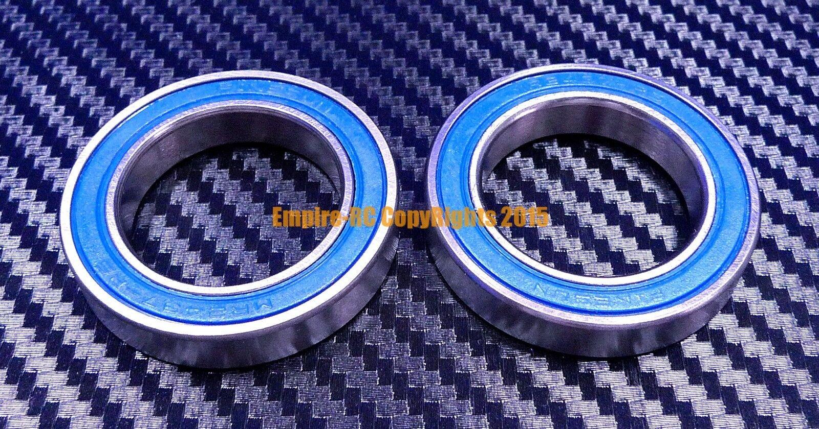 [QTY 10] (24x37x7 mm) MR2437-2RS HYBRID CERAMIC Si3N4 Ball Bearing (blueE) MR2437