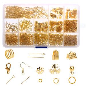 Schmuckherstellung-Bastelset-Ohrhaken-Schmuck-Nietstifte-Verschluss-Verbinder