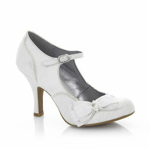 Ruby Shoo Maria White/Silver Arco Wedding Shoes High Heel, Arco White/Silver Bag 478bb9
