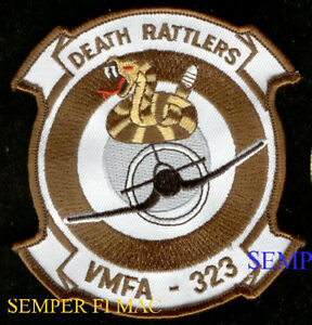 VMFA323-DEATH-RATTLERS-PATCH-US-MARINES-VETERAN-GIFT-F18-F4-F4U-USS-MCAS-MAW-WOW