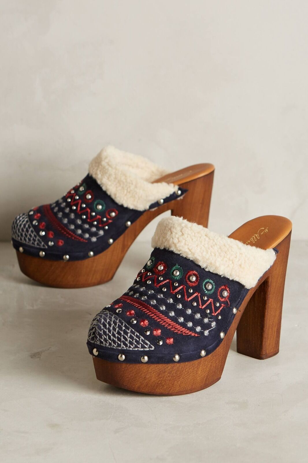 100% autentico New Anthropologie Miss Miss Miss Albright Terrestrial Clogs scarpe 11  grandi offerte