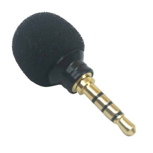 3.5mm Mini Stereo Mikrofon Mini-Stereomikrofon Mic Schwarz für Handy
