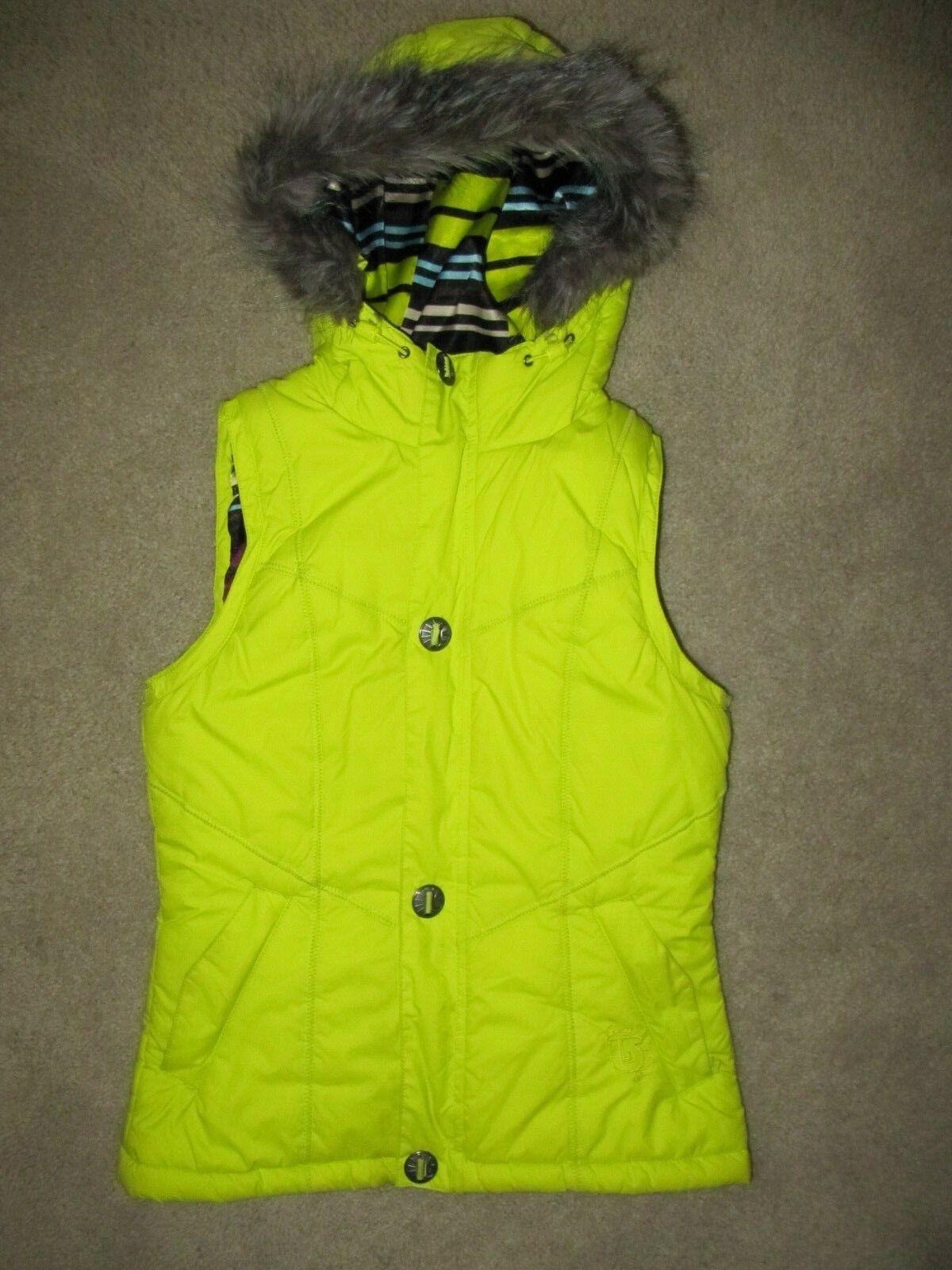 BURTON Full Zip Hooded Snowboard Ski Puffer Vest - Women's S