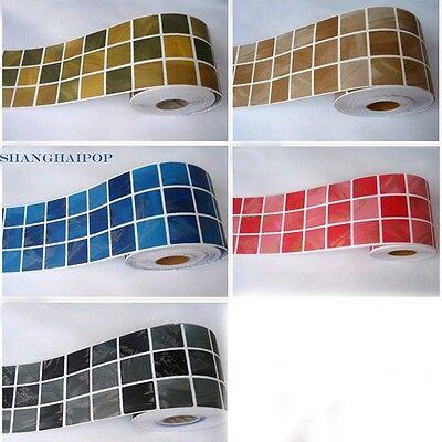 Self Adhesive Border  Sticker Wallpaper Mosaic Tile Vinyl  Kitchen Decor 10cmX5M