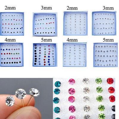 20 pairs Clear Rhinestone Earring Studs 5mm
