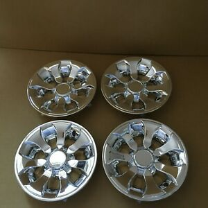 "8"" Universal Golf Cart Wheel Covers Hubcaps Hub caps   (Set of 4) Chrome plated"