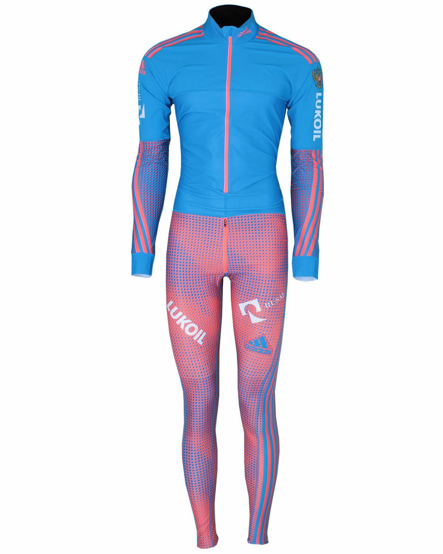 Adidas Herren Russland Lukoil Rusal Skisport Biathlon Athleten Anzug Gr.5