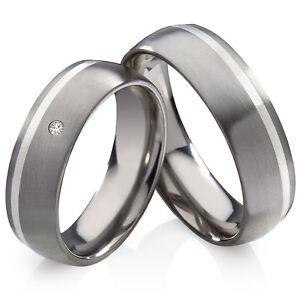 Verlobungsringe-Trauringe-aus-Titan-925-Silber-mit-echtem-Brillant-Gravur-TB016