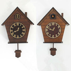 European Wood Cuckoo Wall Clock Quartz Timekeeping Clock