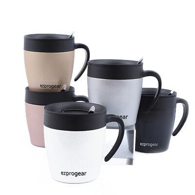 Ezprogear 11 oz Double Wall Stainless Steel Insulated Coffee Mug w/Slider  Lid | eBay
