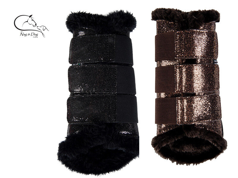 HKM Glitter Comfort FLEECE LINED Brushing  Boot EQUI LEATHER ALL Sizes Colours  best quality