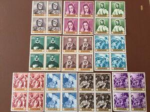 Sellos-Espana-1961-el-greco-bloque-de-cuatro-nuevos-1330-1339