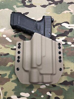 Battleship Gray Kydex Holster for Glock 17//22 Thread Barrel Surefire X400 Ultra