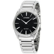 Citizen Stiletto Eco-Drive Black Dial Men's Watch AR3070-55E